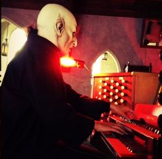 "Organist Dorothy Papadakos practices some scary music Monday (Oct. 29) for the screening of ""Nosferatu"" at St. Paul's Episcopal Church on Tuesday (Oct. 30)."