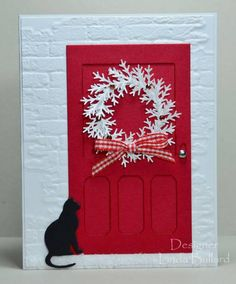 Kitty at the Door by labullard - Cards and Paper Crafts at Splitcoaststampers