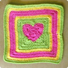 Heart in a Granny Square, this would make the cu.utest afghan!