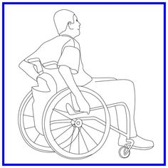 Man in wheelchair Photomontage, Autocad, Cut Out People, Architecture People, People Figures, Steel Art, Sketch Design, Cool House Designs, Drawing People