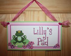 Frog Princess Prince Girls Baby Nursery Bedroom by ToadAndLily, $15.00