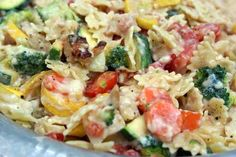 Chicken Pasta Primavera -this was a good meal.  My family LOVED it!  My boys even ate their vegies in it.  :-)  Great weeknight meal.  I don't know if it is good enough to make for company, but a good standby meal.