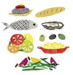 food illustrations by theindigobunting