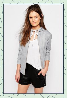 The humble grey hoodie is big news for spring, yasss!