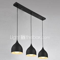 3 Lights Pendant Light , Modern/Contemporary for Living Room / Bedroom / Dining Room / Kitchen / Study 2017 - Interior Design 2017, Interior Decorating, Modern Pendant Light, Room Kitchen, Dining Room, Kitchen Dining, White Cabinets, Living Room Bedroom, Kitchen Lighting