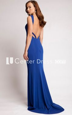 22a0cdabf6 Strapped Sleeveless Jersey Long Dress With Brush Train - UCenter Dress 👗  Several colors all