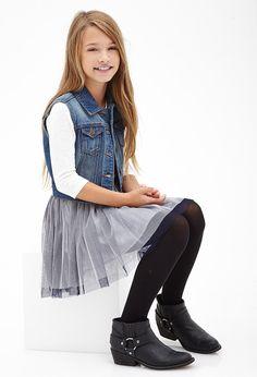 Button-Front Denim Vest (Kids) #F21Girls