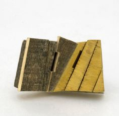 JORGE CASTANON-AR, Mexico II Brooch: Mexico II, 2010  Sterling silver, toronja and wood found in a street of DF (Mexico