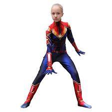 Marvel Amazing Captain Cosplay Kostüm Overall Zentai Anzug Halloween Party **DE , Captain Marvel Costume, Marvel Cosplay, Superhero Facts, Super Hero Costumes, Overall, Kids Girls, Beautiful Dresses, Girl Outfits