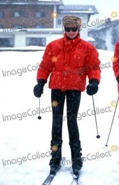 Princess Diana Skiing in Lech, Austria 03-26-1994- 015488 Photo by Dave Chancellor-alpha-Globe Photos