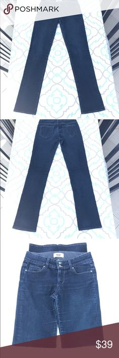 """💙👖Classy Paige Hidden HillsJeans💙 28 5/6 33.25"""" 💙👖 DESIGNER JEANS!👖💙👖PREMIUM DENIM!👖💙 Thanks for stopping by!!! Please Study the Photos Very Carefully!!! ZOOM IN on the Hems, Pockets, and Seat to SEE Details Color And Condition! SEE NOTECARD for information about this particular pair of jeans!!! The Notecards will answer many of your questions!!! MEASUREMENTS are listed ON the NOTECARD!!! #Hashtags: Anthro Anthropologie The Buckle Dojo 7 For All Mankind Citizens of Humanity Miss Me…"""
