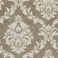 Mocha Damask Fabric by the Yard | Carousel Designs