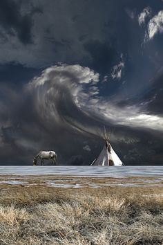 I love this for the scale of it and the spiritual feeling it evokes.  I love our First Nations people.