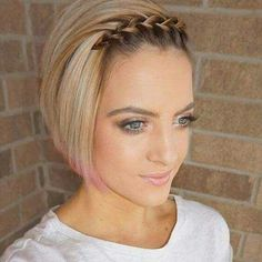 15 cool braids to rock with short hair # braids You are in the right place about hair bangs Here we offer you the most beautiful pictures about the hair bangs long you are looking for. When you examine the 15 cool braids to rock with short hair … Cool Braids, Braids For Short Hair, Cute Hairstyles For Short Hair, Short Hair Cuts, Curly Hair Styles, Curly Short, Short Hair Braid Styles, Trendy Hair, Side Braids