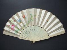 1865 - Bone and tafetá hand fan
