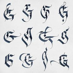 """Still playing with letter forms. G is for Gia ;) #Calligraphy #letters #g #sketch #parallelpen"""