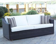 Patio Wicker Outdoor Sofa Portafina: Black Forest #patio #sofa #wicker pin by wickerparadise.com