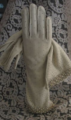 Vintage Beaded Gloves