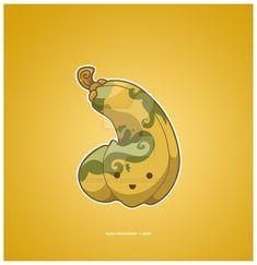 Kawaii Butternut Squash by KawaiiUniverseStudio.deviantart.com on @DeviantArt