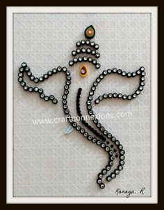 Paper Quilling Tutorial ...Lord Ganesha paper quilling...