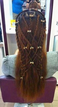 Using different clips, this world be a great renfest look!