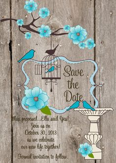 Save the Date Wedding Save the Date Rustic Save by ChurchHillCharm, $18.00