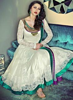 Exquisite Long #Anarkali Suit / #Dress by @cBazaar @cBazaarFashion #Desi