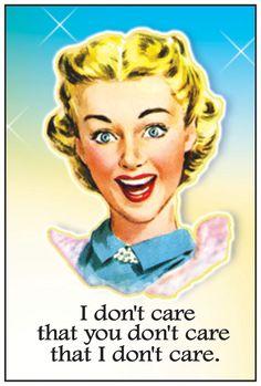 "Retro Magnet ""I Don't Care"""