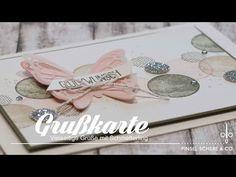 Glückwunschkarte Flatterhaft & Vielseitige Grüße | Hintergründe gestalten | Stampin' Up! - YouTube Peek A Boo, Thing 1, Stampin Up Cards, Greeting Cards, Paper Crafts, Place Card Holders, Handmade, Pop Up, Stamping