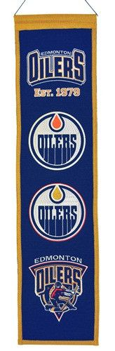 Edmonton Oilers NHL Heritage Banner (8 x 32)