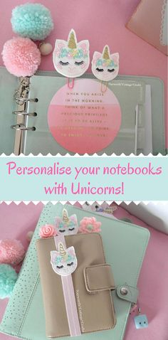 These are so cute!! | Unicorn mini felt planner band | Embroidery supplies| filofax diary paper clip #unicorntribe #unicorn #stationeryaddict #affiliatelink
