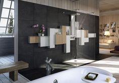 Osmos Collection - Modulo doccia centrale componibile
