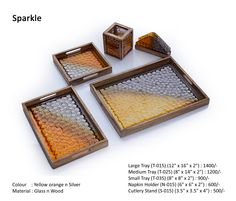 So the next time you have a party at your place, go ahead n flaunt these exotic tray sets to add richness to whatever you serve!!