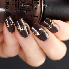 """""""@opi_products How Great Is Your Dane and @dollishpolishlacquer Drooling Over Your Polish + essie As Gold as It Gets. I got the inspiration for this half-…"""""""