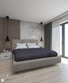 DOM JEDNORODZINNY D12/2015 TARNOWSKIE GÓRY - Sypialnia, styl nowoczesny - zdjęcie od A2 STUDIO pracownia architektury