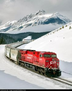 Net Photo: CP 8853 Canadian Pacific Railway GE at Lake Louise, Alberta, Canada by Matthew Hicks RailPictures.Net Photo: CP 8853 Kanadische Pazifikbahn GE in Lake Louise, Alberta, Kanada von Matthew Hicks Canadian National Railway, Canadian Pacific Railway, Railroad Photography, Train Times, Train Pictures, Old Trains, Banff, Train Journey, Diesel Locomotive