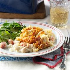 Cordon Bleu Casserole Recipe -I often roast a turkey just to have leftovers for this creamy casserole. It makes for a pretty presentation at potluck dinners.—Joyce Paul, Qu'Appelle, Saskatchewan