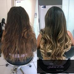Transformação com um Ombré Hair em um tom de Avelã + Reconstrução da fibra capilar!
