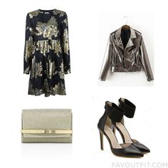 Wardrobe Tricks Featuring P.a.r.o.s.h. Dress Biker Jacket Pumps And White Handbag From October 2016 #outfit #look