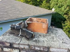 Wooden covers for chimney flues do not last long