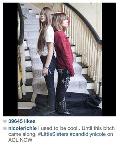 Decided to keep the caption Nicole wrote. Lol. #sisterlylove •