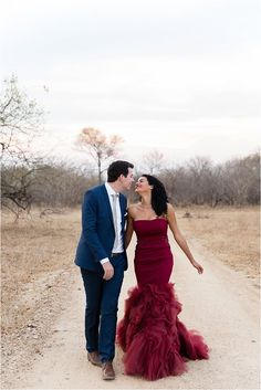 Vera Wang red / marsala wedding dress | Emilia Jane Photography