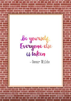 Be Yourself - 8x10 Print Printable Wall Art Gift for Friends Office Printables Instant Download Inspirational Wall Art Dorm Wall Art by HotWheelsAndGlueGuns