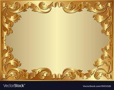 Background vector image on VectorStock Golden Background, Paper Background, Background Patterns, Background Images, Hi Tech Wallpaper, Foto Frame, Powerpoint Background Design, Mirror Crafts, Page Borders Design
