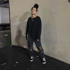 Melissa Melissa Best Picture For tomboy fashion joggers For Your Taste You a Skater Mädchen Outfits, Dope Outfits, Cute Casual Outfits, Fashion Outfits, Casual Jeans, Grunge Outfits, Tomboy Winter Outfits, Edgy School Outfits, Chill Outfits