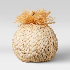 """7"""" X 7"""" Decorative Oh Woven Pumpkin Spice Figurine - Opalhouse™ : Target Thanksgiving Decorations, Seasonal Decor, Thanksgiving Table, Fall Decorations, City Apartment Decor, Chicago Apartment, Wood Signs For Home, Create Space, Pumpkin Decorating"""