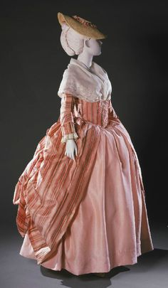 Robe a la francaise ca. 1765-80.