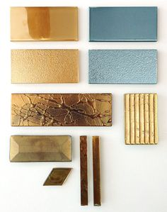 Gold Glass Tile Size and Texture