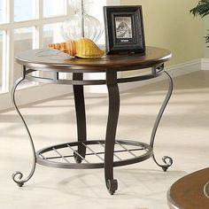 Riverside Eastview Round End Table - Tuscan Sun | from hayneedle.com