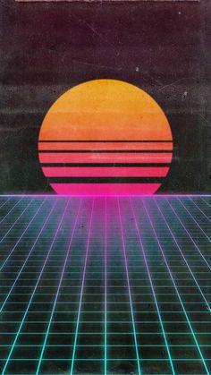 & Retro-Futuristic Requested by Cyberpunk Aesthetic, Cyberpunk City, Neon Aesthetic, Waves Wallpaper, Retro Wallpaper, 1980s Art, 1980s Toys, Vaporwave Wallpaper, 1980s Design